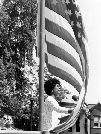 Shirley Chisholm - 1971 Photographic Print by Maurice Sorrell