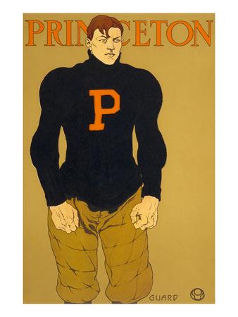 Princeton Poster, Burly Football Player Prints