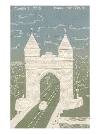 Memorial Arch, Hartford, Connecticut Poster