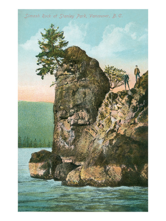 Simash Rock, Stanley Park, British Columbia Poster