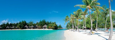 Beautiful Beach on Bora Bora Island - French Polynesia Prints