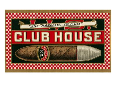 Ad for Club House Cigar Prints