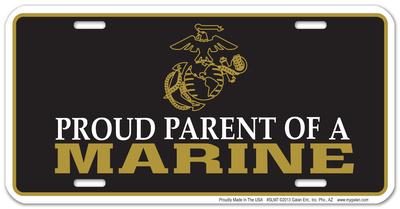 Proud Parent of Marine Plate Tin Sign