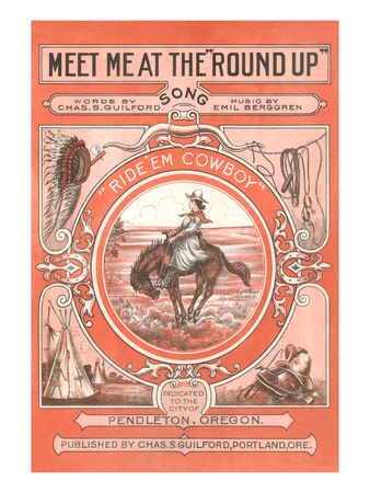 Sheet Music for the Round Up Prints