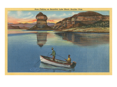 Fishing on Lake Mead, Arizona Posters