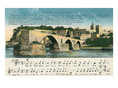 St. Benezet Bridge, Avignon, France Art