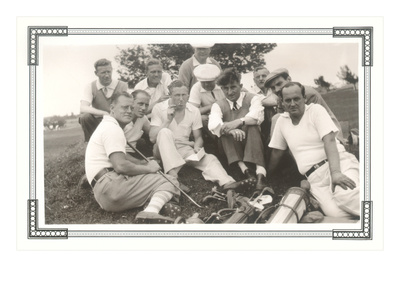 Resting Golfers Posters
