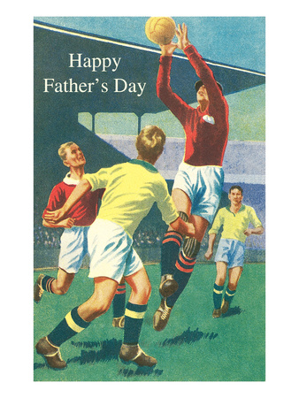 Happy Father's Day, Rugby Players Prints