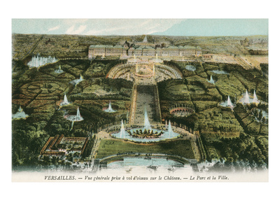 Overview of Versailles, France Posters