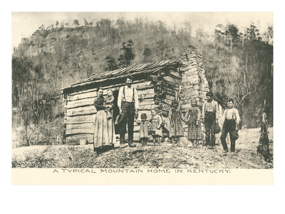 Typical Mountain Home in Kentucky Posters