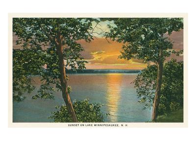 Sunset on Lake Winnipesaukee, New Hampshire Posters