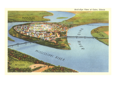 Bird's Eye View of Cairo, Illinois Posters