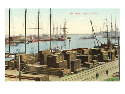 San Pedro Harbor, California Prints