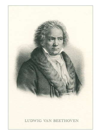 Engraving of Beethoven Art