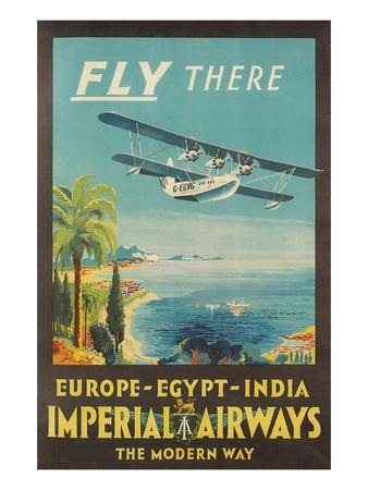 Biplane Clipper, Imperial Airways Plakater