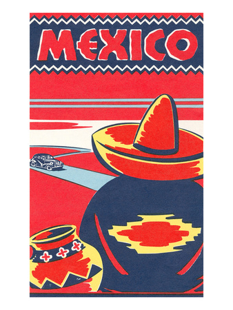 Travel Poster for Mexico Prints