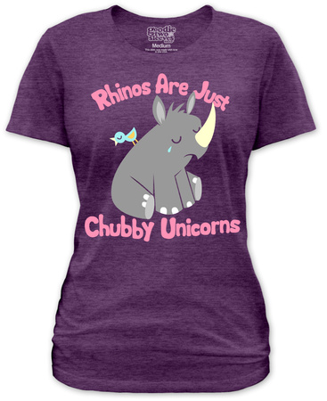 Juniors: Chubby Unicorn T-Shirt
