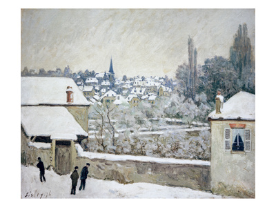 Winter in Louveciennes Giclee Print by Alfred Sisley