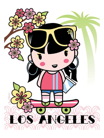 Los Angeles Cutie Print by Joan Coleman