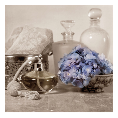 Hydrangea and Atomizer Posters by Julie Greenwood
