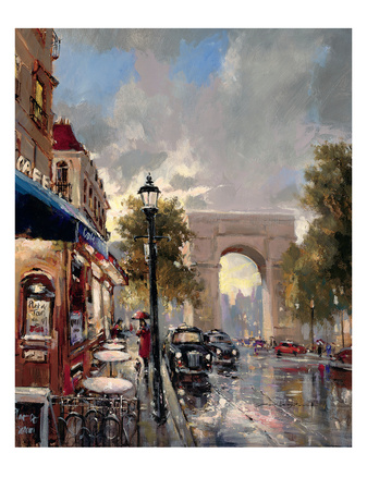 Arc De Triomphe Avenue Poster by Brent Heighton