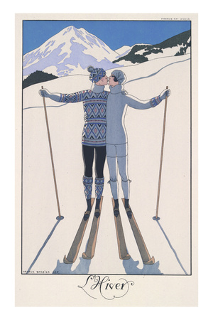 L'Hiver (Winter) Giclee Print by Georges Barbier