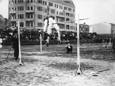 International Athletics Championship in Berlin on September 18, 1910: High Jump Photographic Print