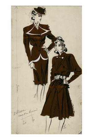 Women's Fashion, 1940s Giclee Print by Gerd Hartung
