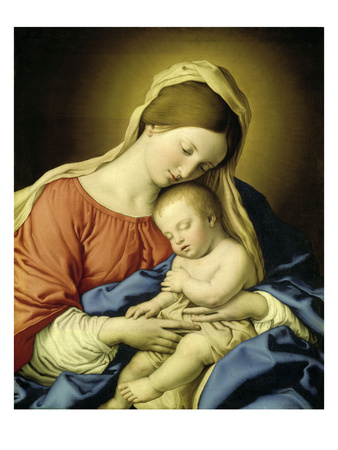 Mary with Child Giclee Print by  Giovanni Battista Salvi da Sassoferrato
