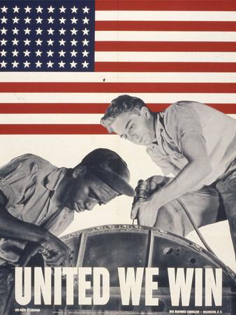United We Win, US Propaganda Poster Giclee Print