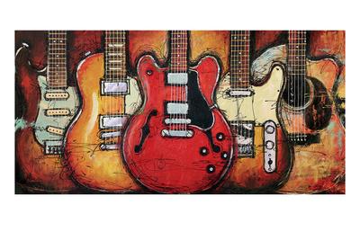 Guitar Collage Kunstdrucke von Bruce Langton