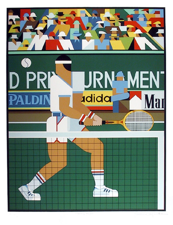 Tennis Player Limited Edition by Giancarlo Impiglia