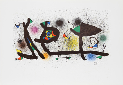 Sculptures (M. 950) Collectable Print by Joan Miró