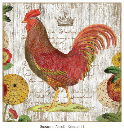 Rooster II Prints by Suzanne Nicoll