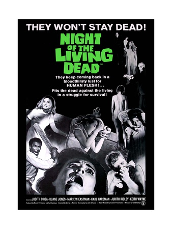 Night of the Living Dead Movie Poster ポスター