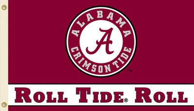 NCAA Alabama Crimson Tide Flag with Grommets Bandera