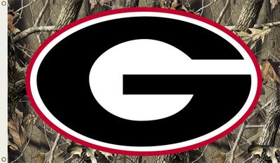 NCAA Georgia Bulldogs Camo Flag with Grommets Flag