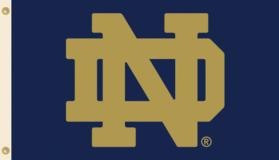 NCAA Notre Dame Flag with Grommets Bandera