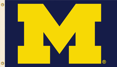NCAA Michigan Wolverines Flag with Grommets Bandera