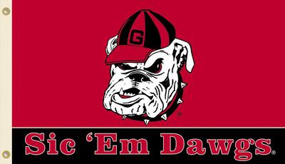 NCAA Georgia Bulldogs Flag with Grommets Flag