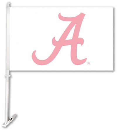 NCAA Alabama Crimson Tide Car Flag with Wall Bracket Flag