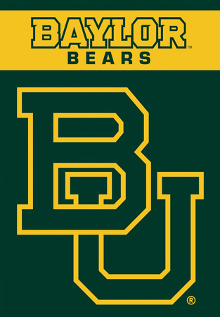 NCAA Baylor Bears 2-Sided House Banner Flag