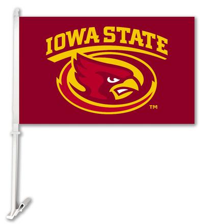 NCAA Iowa State Cyclones Car Flag with Wall Bracket Flag