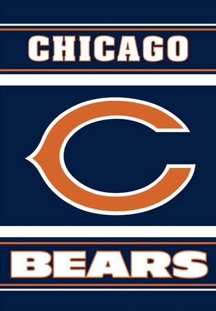 NFL Chicago Bears 2-Sided House Banner Bandera