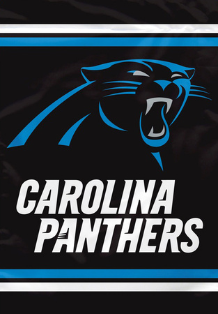 NFL Carolina Panthers 2-Sided House Banner Bandera