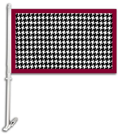 NCAA Alabama Crimson Tide Car Flag with Wall Bracket Flag!
