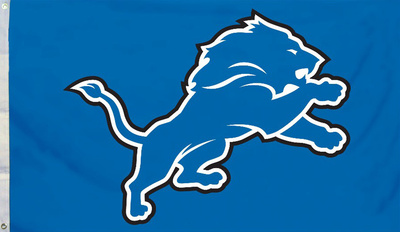 NFL Detroit Lions Flag with Grommets Bandera
