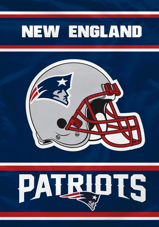 NFL New England Patriots 2-Sided House Banner Bandera