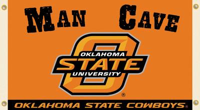 NCAA Oklahoma State Cowboys Man Cave Flag with Grommets Flag
