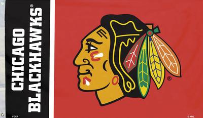 NHL Chicago Blackhawks Flag with Grommets Bandera